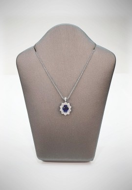 Crivelli necklace with diamonds and sapphire CRV3619