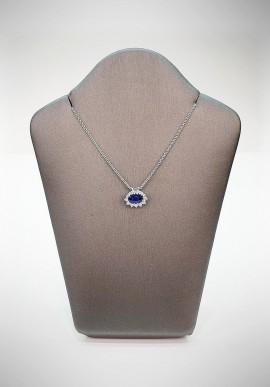Crivelli necklace with diamonds and sapphire CRV3819