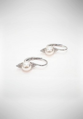 Crivelli earrings with diamonds and pearls CRV4519