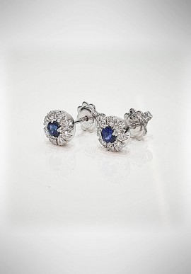 Crivelli earrings with diamonds and sapphires CRV4919