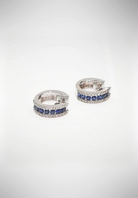 Crivelli earrings with diamonds and sapphires CRV5119