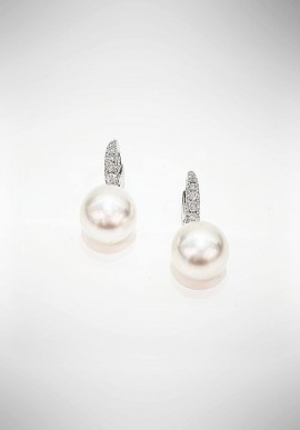 Crivelli earrings with diamonds and australian pearls CRV4219