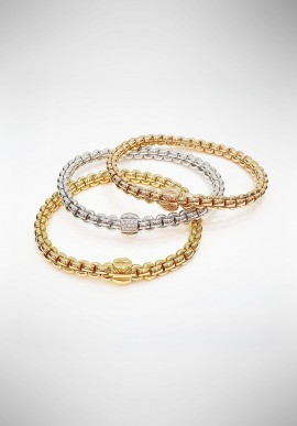 """Fope """"EKA"""" White, Rose and Yellow Gold Bracelets 066740933COL"""