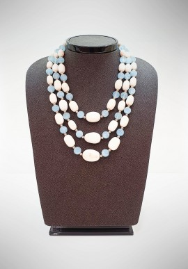Soara silver and semiprecious stones necklace SOA20002