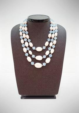 Soara silver and semiprecious stones necklace SOA20002