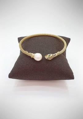 Soara silver and pearl bracelet SOA20008