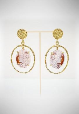 Soara silver and cameo earrings SOA20010