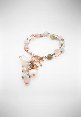 Luisa Della Salda silver and mother of pearl earrings B1317OVP