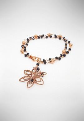 Luisa Della Salda silver and black agate bracelet B0650BINS