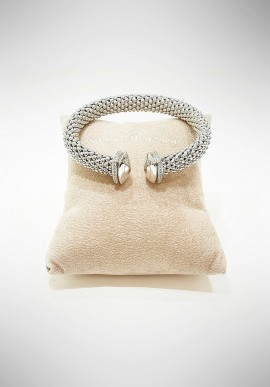 Marcello Pane Twist collection silver bracelet BRFO067