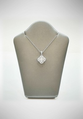 Crivelli white gold necklace with brilliants CRV6010