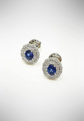Crivelli white gold earrings with sapphires CRV6014