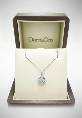 Donnaoro white gold necklace with diamonds DNO14