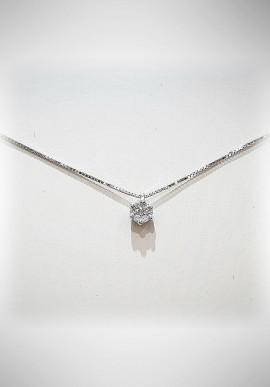 Donnaoro white gold necklace with diamonds DNO16