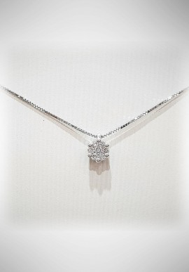 Donnaoro white gold necklace with diamonds DNO17