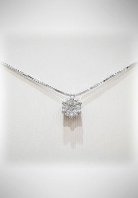 Donnaoro white gold necklace with diamonds DNO18