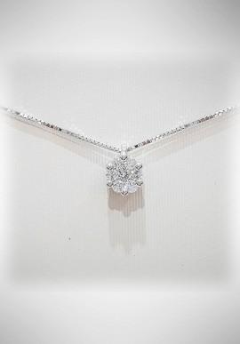 Donnaoro white gold necklace with diamonds DNO19