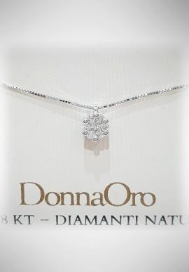Donnaoro white gold necklace with diamonds DNO20