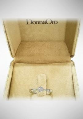 Donnaoro white gold ring with diamonds DNO11