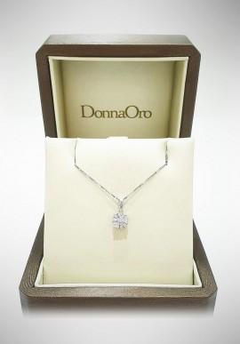 Donnaoro white gold necklace with diamonds DNO13
