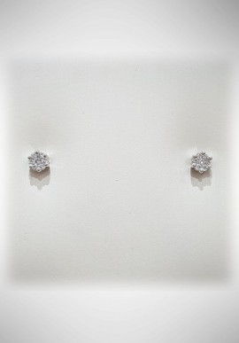 Donnaoro white gold earrings with diamonds DNO29