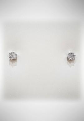 Donnaoro white gold earrings with diamonds DNO30
