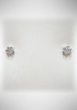 Donnaoro white gold earrings with diamonds DNO31