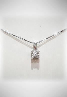 Donnaoro white gold necklace with diamonds DNO33