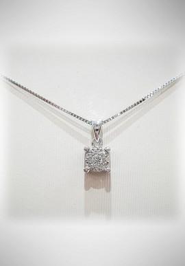 Donnaoro white gold necklace with diamonds DNO34