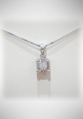 Donnaoro white gold necklace with diamonds DNO35