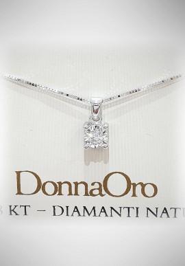 Donnaoro white gold necklace with diamonds DNO36