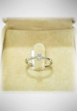 Donnaoro white gold ring with diamonds DNO37