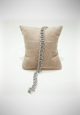 Marcello Pane silver bracelet Classique collection BRYA001