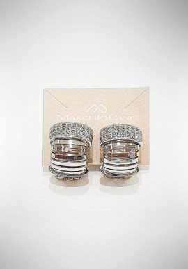 Marcello Pane silver earrings Twist collection OREO007