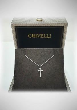 Crivelli white gold necklace with diamonds CRV2106