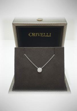 Crivelli white gold necklace with diamonds CRV2107