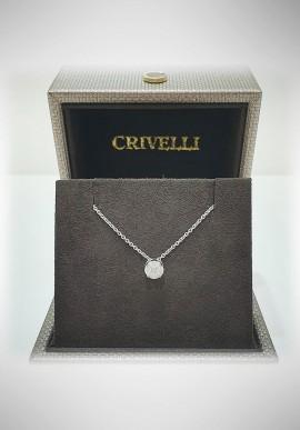 Crivelli white gold necklace with diamonds CRV2108