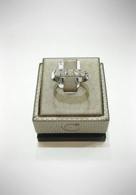 Crivelli white gold Riviera ring with diamonds CRV2114