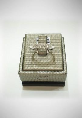 Crivelli white gold Riviera ring with diamonds CRV2116