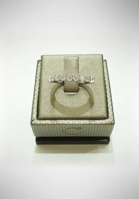 Crivelli white gold Riviera ring with diamonds CRV2117