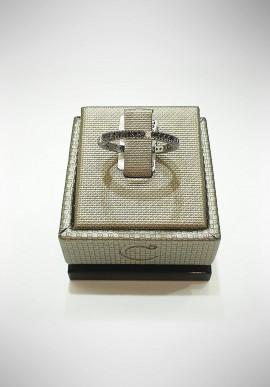 Crivelli white gold Riviera ring with diamonds CRV2118