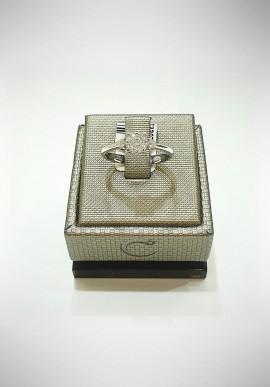 Crivelli white gold ring with diamonds CRV2119