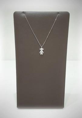 Crivelli white gold necklace Easy Crivelli Bimba with diamonds CRV2123