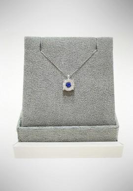 Lunatica white gold neckalce with diamonds and sapphire LNT05