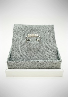 Lunatica Trilogy white gold ring with diamonds LNT13