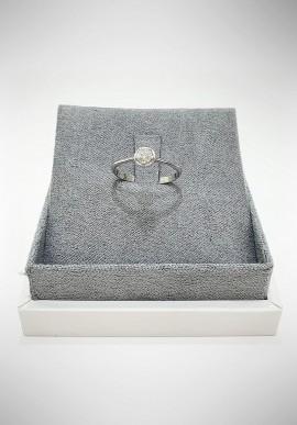 Lunatica Solitario white gold ring with diamonds LNT15