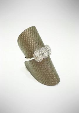ProJ white gold Trilogy ring with diamonds PROJ2
