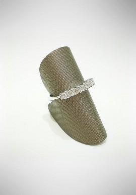 ProJ white gold Riviera ring with diamonds PROJ6