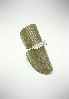 ProJ white gold Trilogy ring with diamonds PROJ7