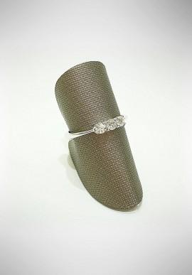 ProJ white gold Trilogy ring with diamonds PROJ8